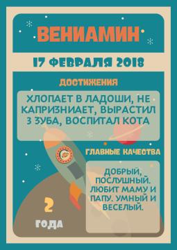 Постер достижений на день рождения №4